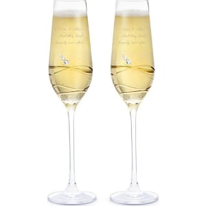 Crystal Champagne Flutes With Swarovski Elements