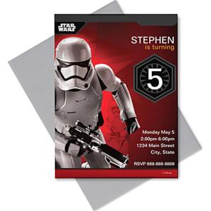 Stormtrooper Invitation Customizable Star Wars