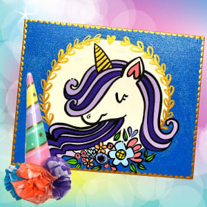 Unicorn Canvas and Make Your Own Unicorn Horn