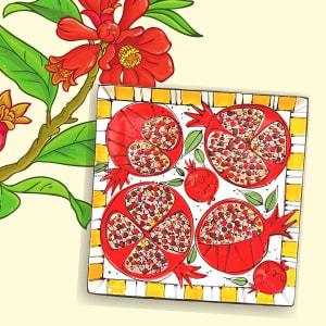 Beginning Technique: Pomegranate Platter