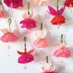 Paper Fuchsia Decoration Workshop