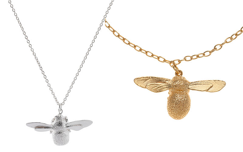 36bc6ca57 Pictured, from left to right: Alex Monroe Sterling Silver Bumble Bee  Necklace, £126, John Lewis; Alex Monroe 22ct Gold Plated Baby Bee Charm  Bracelet, £195, ...
