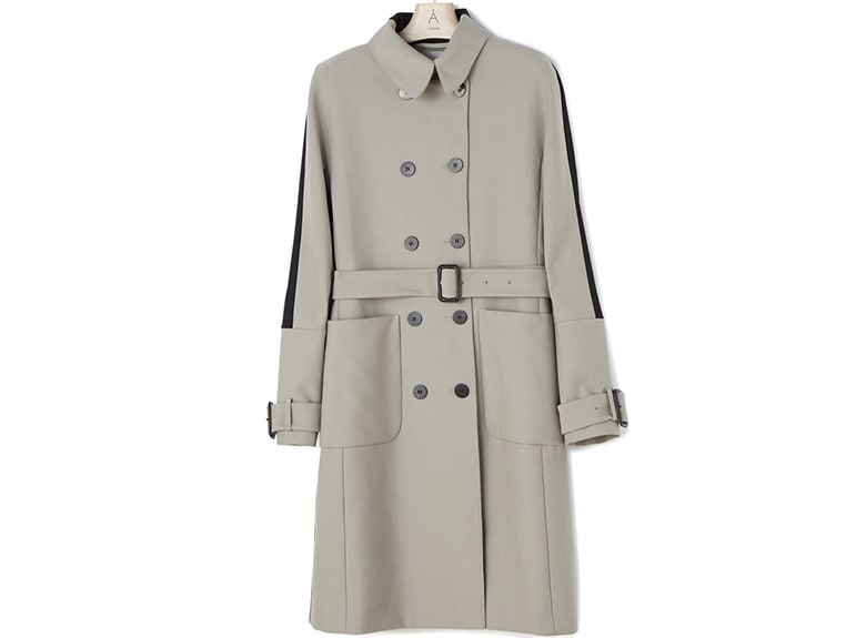 ada grey quilted trench coat jigsaw