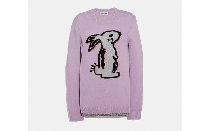Westfield London Coach Selena Bunny Intarsia Sweater in Lilac, £295
