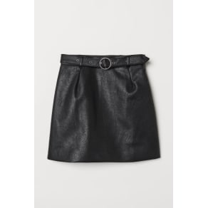 H & M - Skirt with a belt - Black