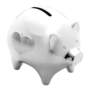 Wedgwood Vera Wang Baby silver-plated piggy bank
