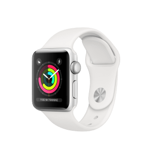 Apple Watch Series 3 GPS 38mm Aluminium Case Silver with White Sport Band