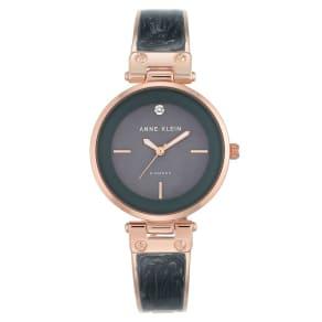 Anne Klein Ladies' Grey Enamel Bracelet Watch