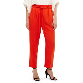 Phase Eight - Orange Pipa Paperbag Waist Soft Trousers