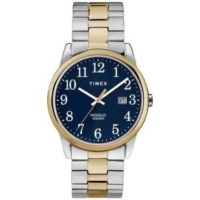 Timex Men's Easy Reader Two Tone Steel Bracelet Watch