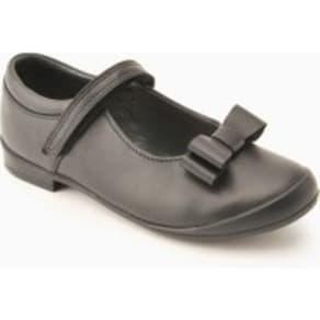 Girls Start-Rite Black Pussycat Bow Shoe -  Black