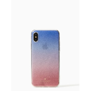 Sunset Glitter Ombre Iphone X Case - Pink Multi - one size