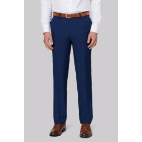 Moss 1851 Tailored Fit Bright Blue Sharkskin Trousers