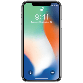 Apple iPhone X - 256GB - Silver - Mobile Phone - with installment plan