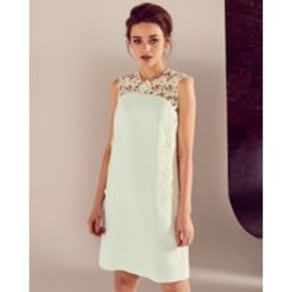 c9143a17ac0 Ted Baker Applique lace tunic dress Light Green