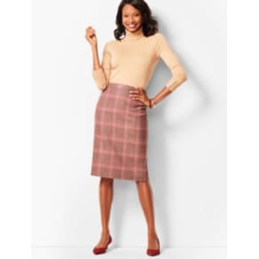 Talbots: Glen Plaid Pencil Skirt