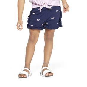 Toddler Girls' Embroidered Whale Shorts - Navy 2T - vineyard vines for Target, Blue