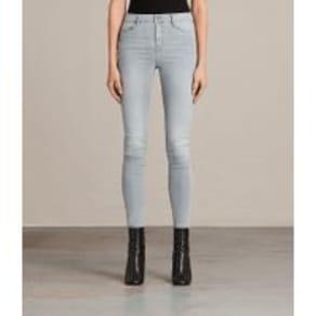 Grace Skinny Mid-Rise Jeans, Steel Grey