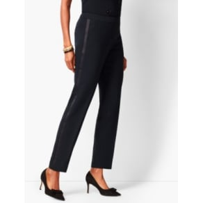 Talbots: Refined Crepe Slim Ankle Pants