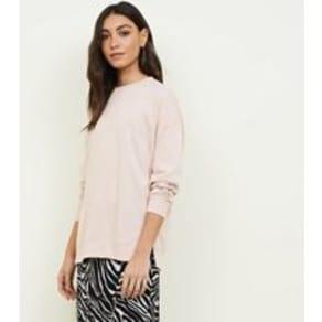 Pale Pink Crew Neck Oversized Sweatshirt New Look