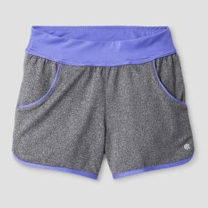 Girls' Knit Shorts with Pockets - C9 Champion Hardware Gray XL, Heather Grey