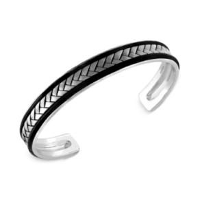 Effy Men's Woven Cuff Bracelet in Sterling Silver