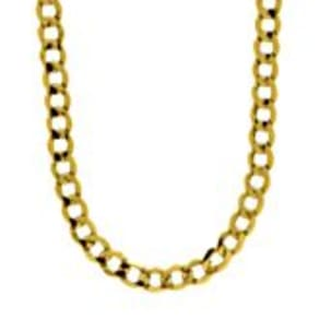 Men's Curb Chain in 10K Yellow Gold, 22
