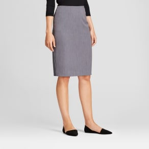 Women's Bi-Stretch Twill Pencil Skirt - A New Day Heather Gray 12