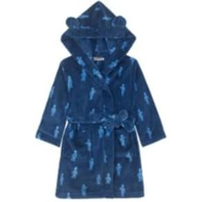 Boys CK Blue Mono Guards Kids Dressing Gown -  Blue