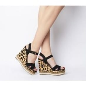 Office Halcyon Feature Wedge BLACK WITH LEOPARD