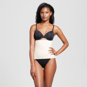 SlimShaper by Miracle Brands Women's Tailored Step-in Waist Cincher - Nude Xxl