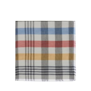 Mulberry Paint Brush Check Logo Scarf in Midnight Cotton Modal