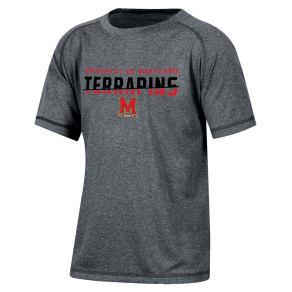 Maryland Terrapins Boys Short Sleeve Crew Neck Raglan Performance T-Shirt - Gray Heather S, Multicolored