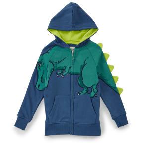 63554dae08df Hollywood Little Boys 2T-7 Dinosaur Zip Front Fleece Hoody
