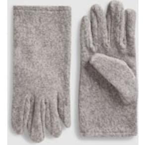 Womens Next Grey Fleece Gloves -  Grey