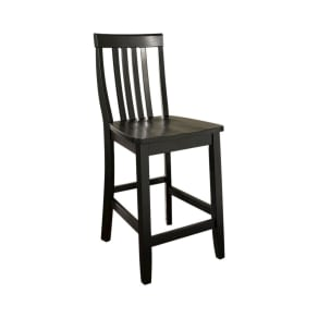 School House 24 Counter Stool - Black (Set of Two) - Crosley