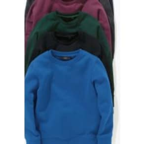 Boys Next Black Crew Neck Sweater (3-16yrs) -  Black