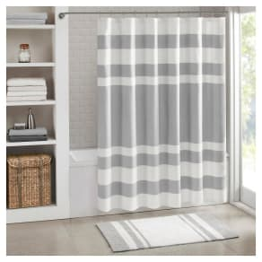 Spa Waffle Shower Curtain with 3M Treatment - Gray, Grey