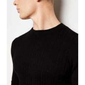 Black Long Sleeve Cable Knit Jumper New Look