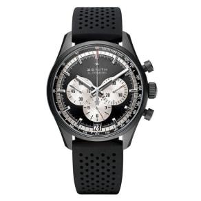 Zenith El Primero Men's Aluminium Black Strap Watch