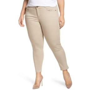 Plus Size Women's Wit & Wisdom Ab-Solution Ankle Pants, Size 14W - Beige