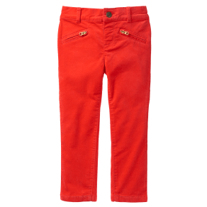 Girl's Velveteen Pants by Crazy 8 - Poppy Red by Crazy 8