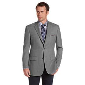 Traveler Collection Tailored Fit Herringbone Sportcoat CLEARANCE, by JoS. A. Bank