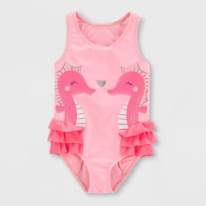Toddler Girls' Seahorse One Piece Swimsuit - Just One You made by carter's Pink 5T