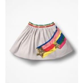 f4f51af07eb Sequin Appliqué Woven Skirt Grey Girls Boden
