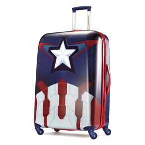 "American Tourister Marvel All Ages 28"" Spinner Luggage Captain America"