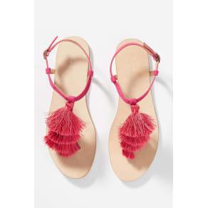 Anthropologie Anora Tasseled Sandals