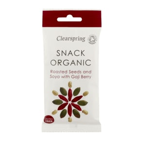 Clearspring Snack Organic Roasted Seeds and Soya With Goji Berry 30g