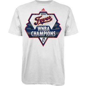 Indiana Fever Adidas Nba 2012 Wnba Champ Lr T-Shirt