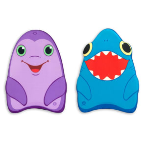 Melissa & Doug Sunny Patch Dolphin and Shark Kickboards - Learn-To-Swim Pool Toys (Set of 2), Blue